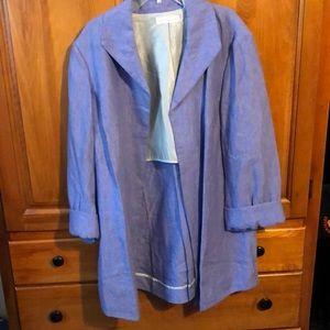 NWOT Linen long blazer